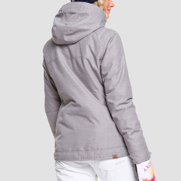 Roxy Billie B Snow Jacket Heather Grey - Womens
