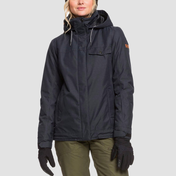 Roxy Billie B Snow Jacket True Black - Womens