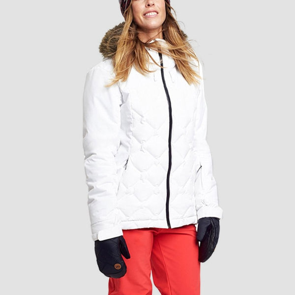 Roxy Breeze Snow Jacket Bright White - Womens - Snowboard