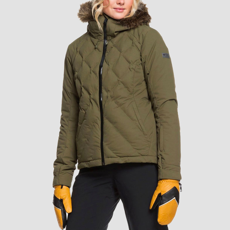 Roxy Breeze Snow Jacket Ivy Green - Womens
