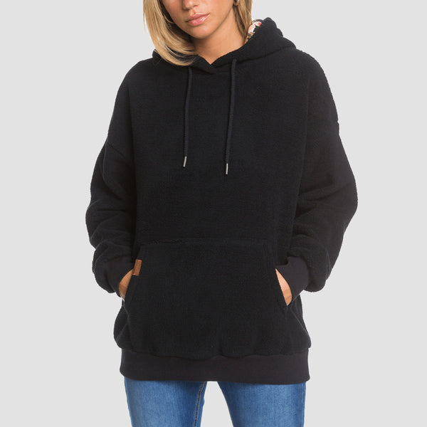 Roxy By The Lighthouse Pullover Hood Anthracite - Womens