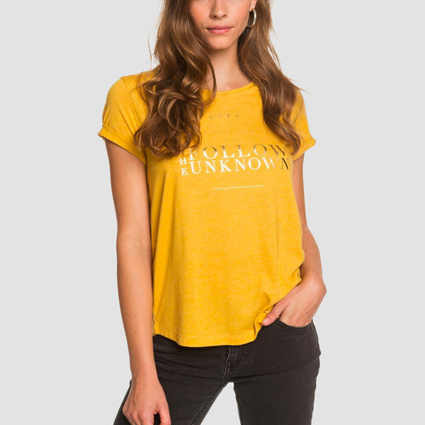 Roxy Call It Dreaming Tee Mineral Yellow - Womens