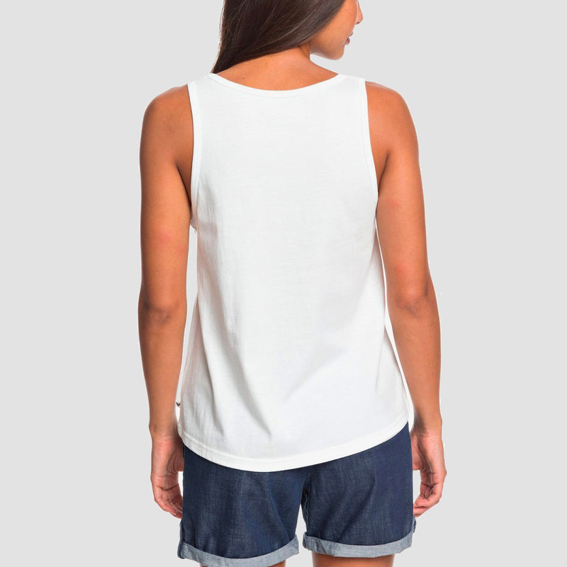 Roxy Closing Party Vest Top Snow White - Womens