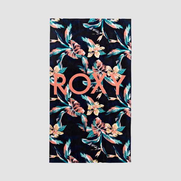 Roxy Cold Water Beach Towel Anthracite Tropicoco S - Womens