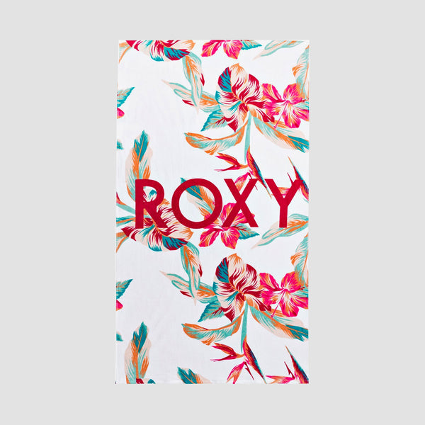 Roxy Cold Water Beach Towel Bright White Tropic Call S - Womens