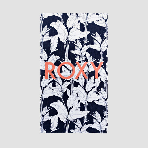 Roxy Cold Water Beach Towel Mood Indigo Flying Flowers S - Womens