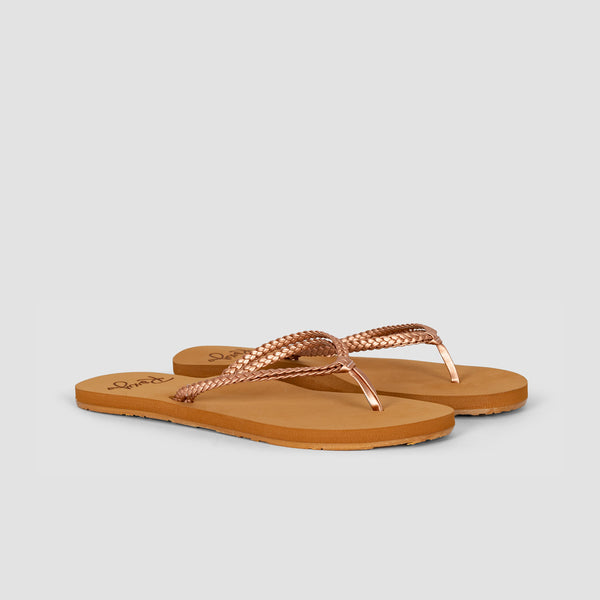 Roxy Costas Sandals Rose Gold - Womens