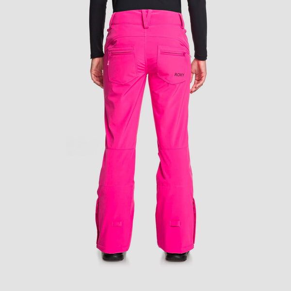 Roxy Creek Snow Pants Beetroot Pink - Womens