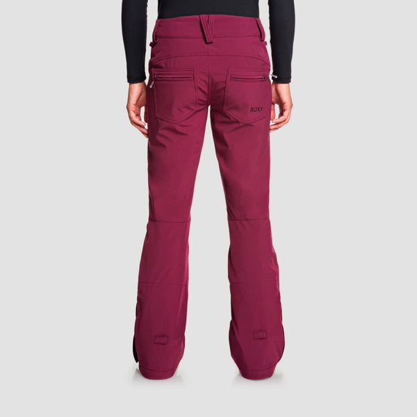 Roxy Creek Snow Pants Grape Wine - Womens