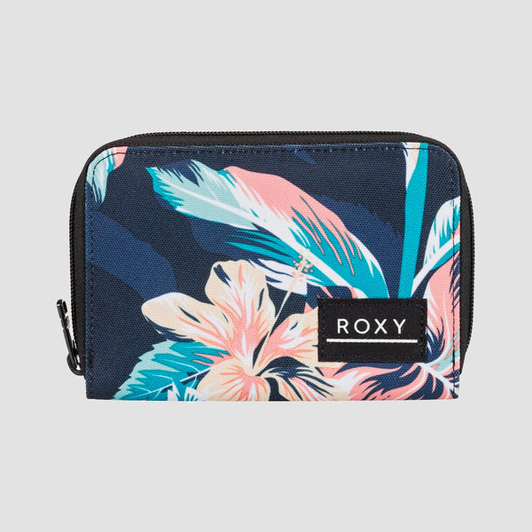 Roxy Dear Heart Zip-Around Wallet Anthracite Tropicoco S - Womens