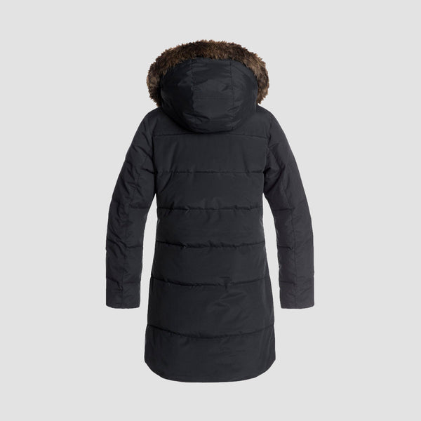Roxy Ellie Puffer Jacket True Black - Womens