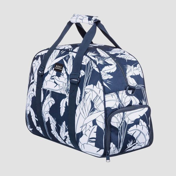 Roxy Feel Happy 35L Sports Duffle Bag Mood Indigo Flying Flowers S - Womens