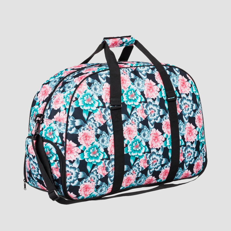 Roxy Feel Happy 60L Duffle Bag Anthracite S Crystal Flower - Womens