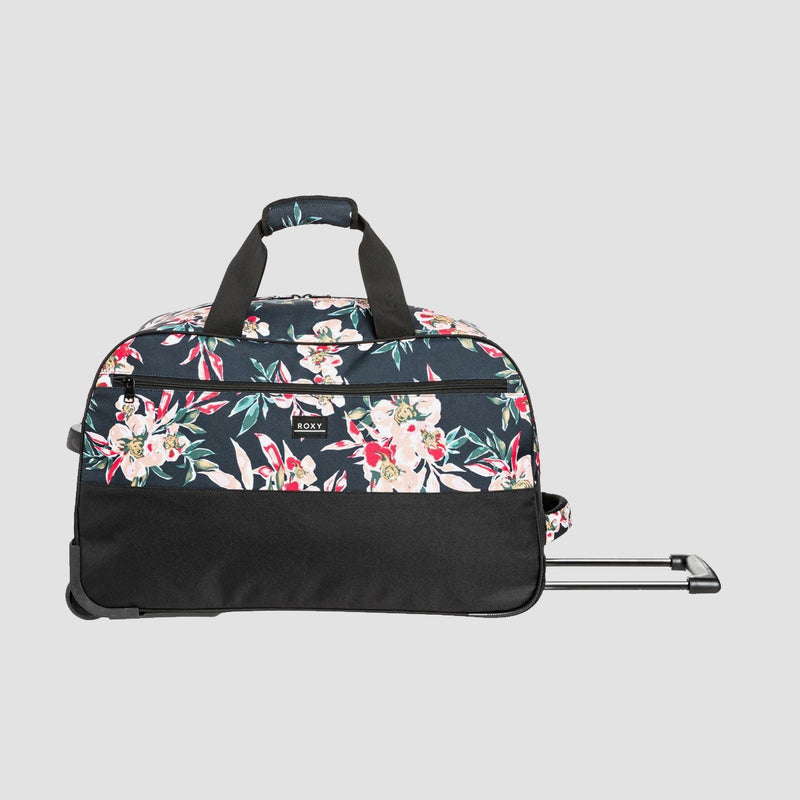 Roxy Feel It All 67L Wheeled Duffle Bag Anthracite Wonder Garden S - Womens