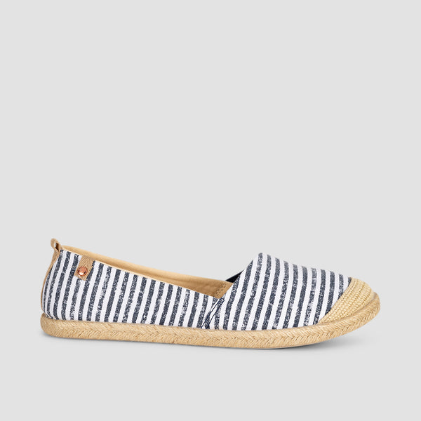 Roxy Flora Slip-On Blue/White Print - Womens