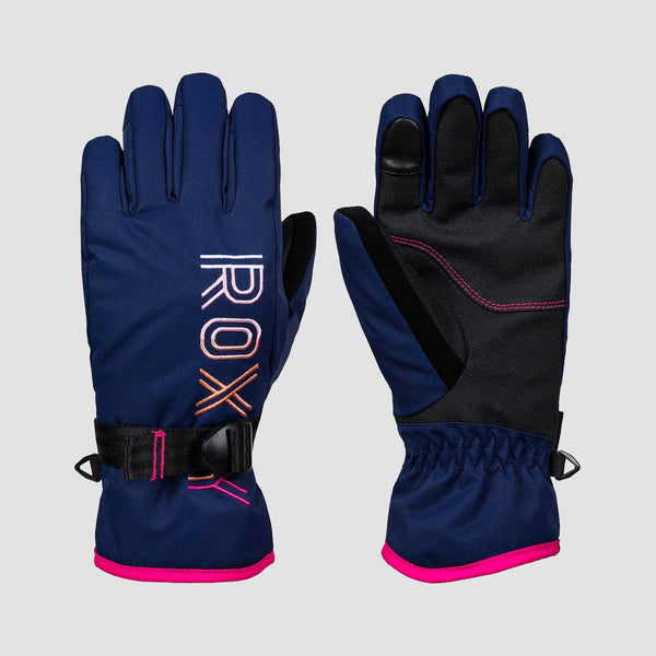 Roxy Freshfield 8-16 Years Snow Gloves Medieval Blue - Kids