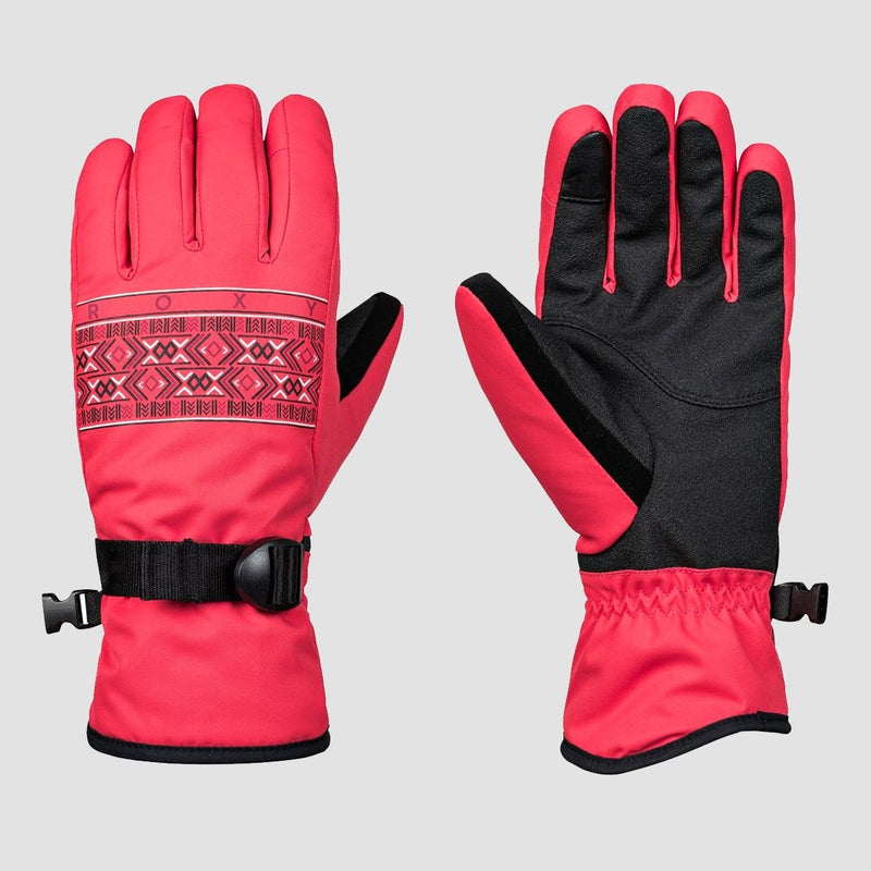 Roxy Freshfield Snow Gloves Teaberry - Womens - Snowboard