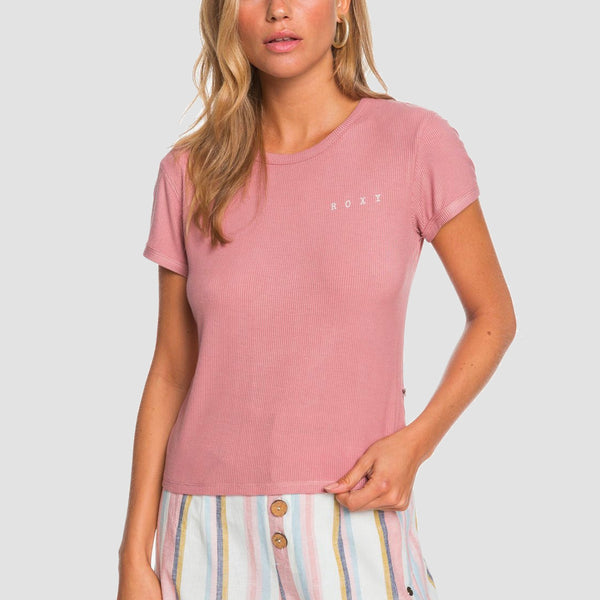 Roxy Frozen Day Tee Ash Rose - Womens