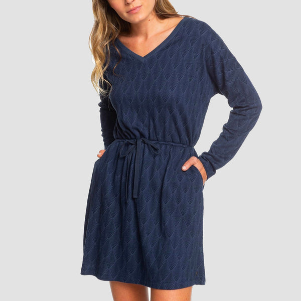 Roxy Get Home Dress Mood Indigo Free Fallin - Womens