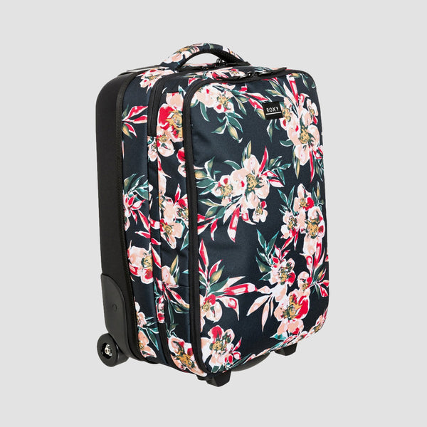 Roxy Get It Girl 35L Wheeled Suitcase Anthracite Wonder Garden S - Womens