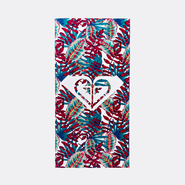 Roxy Glimmer Of Hope Beach Towel Bright White Paradise - Womens