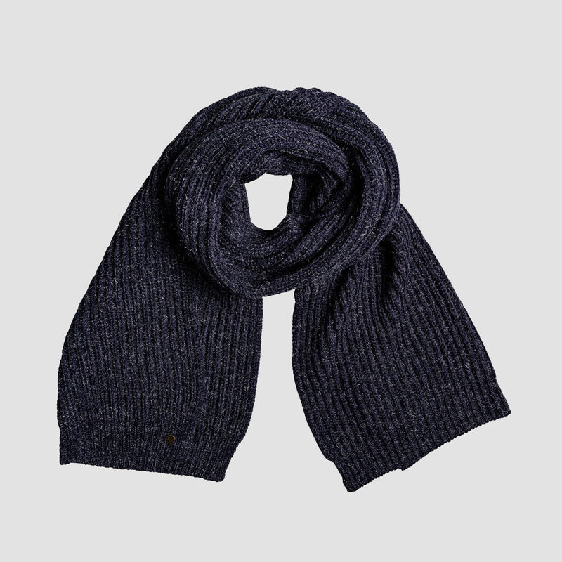 Roxy Gypsy Child Lurex Knitted Scarf Mood Indigo - Womens