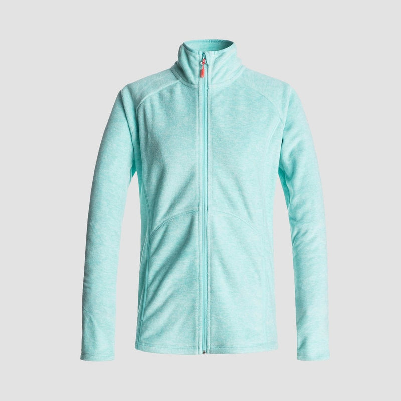 Roxy Harmony Zip Up Mid Layer Aruba Blue - Womens - Snowboard