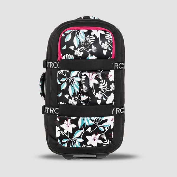 Roxy In The Clouds 87L Wheeled Neoprene Suitcase True Black Story Of Sunshine - Womens