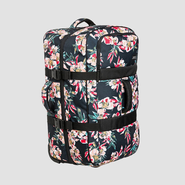 Roxy In The Clouds 87L Wheeled Suitcase Anthracite Wonder Garden S - Womens