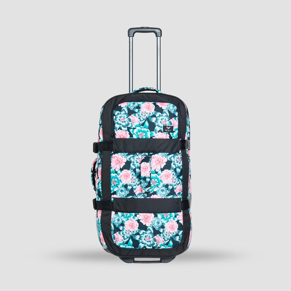 Roxy In The Clouds 87L Wheelie Suitcase Anthracite S Crystal Flower - Womens - Accessories