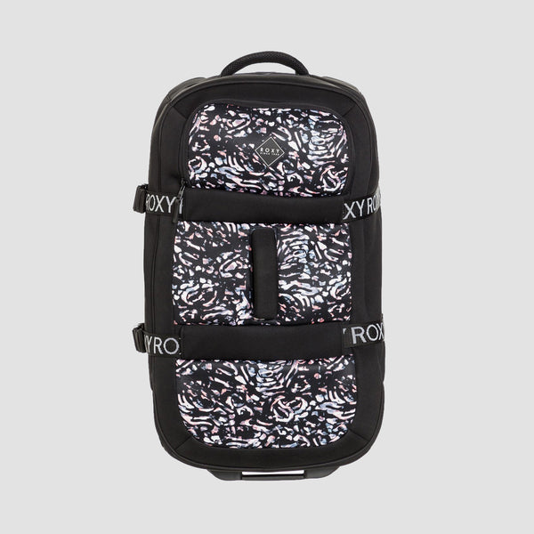 Roxy In The Clouds Neoprene 87L Wheeled Suitcase True Black Izi - Womens