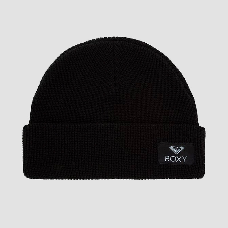 Roxy Island Fox Beanie Anthracite - Womens