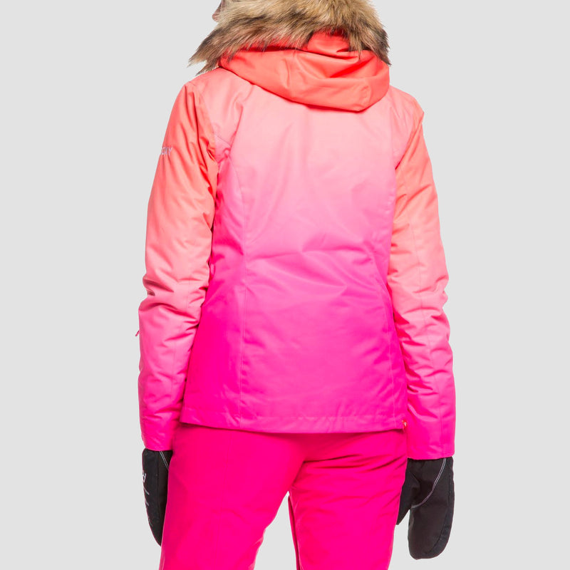 Roxy Jet Ski Snow Jacket Beetroot Pink Prado Gradient - Womens