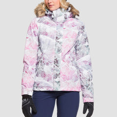 Roxy Jet Ski Snow Jacket Bright White Mysterious View - Womens - Snowboard
