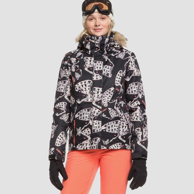 Roxy Jet Ski Snow Jacket True Black Impressions - Womens