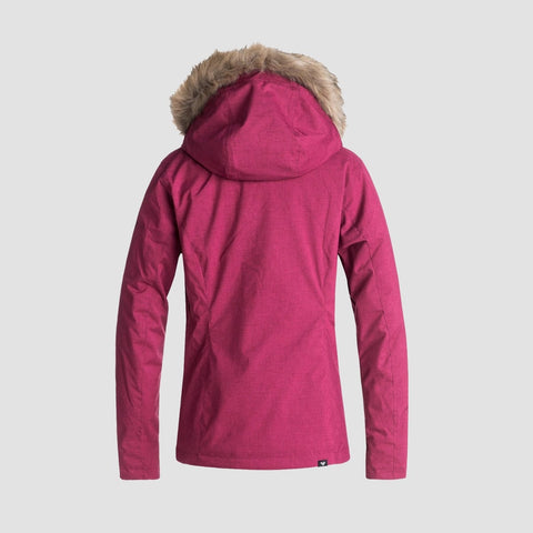 Roxy Jet Ski Solid Snow Jacket Beet Red - Womens - Snowboard