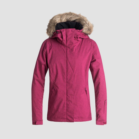 Roxy Jet Ski Solid Snow Jacket Beet Red - Womens