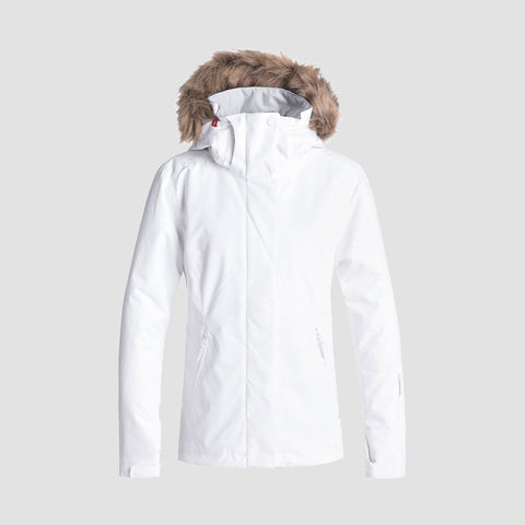 Roxy Jet Ski Solid Snow Jacket Bright White/Kerala Emboss - Womens