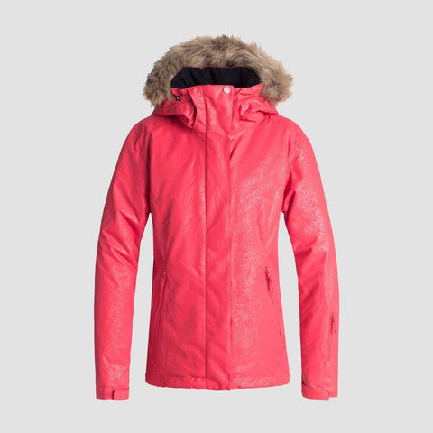 Roxy Jet Ski Solid Snow Jacket Tea Berry/Kerala Emboss - Womens