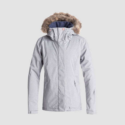Roxy Jet Ski Solid Snow Jacket Warm Heather Grey - Womens