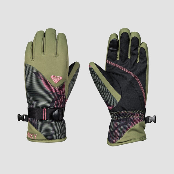 Roxy Jetty Girl Snow Gloves True Black/Swell Flowers Girl - Womens - Snowboard