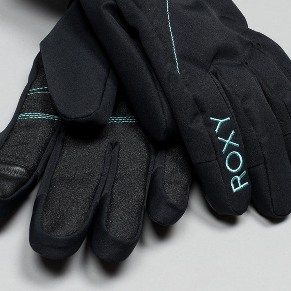 Roxy Jetty Snow Gloves True Black - Womens - Snowboard