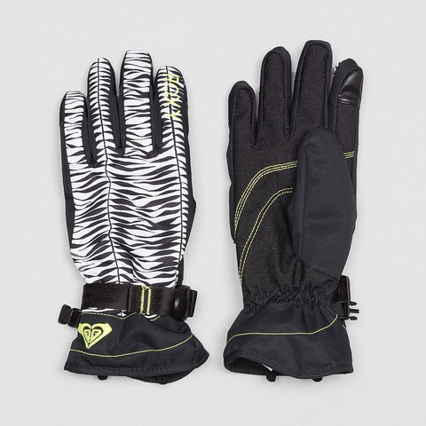Roxy Jetty Snow Gloves True Black/Savanna - Womens