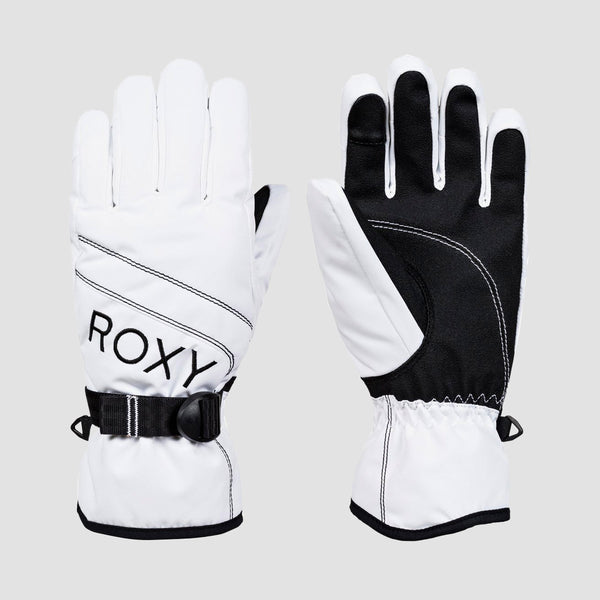 Roxy Jetty Solid Snow Gloves Bright White - Womens