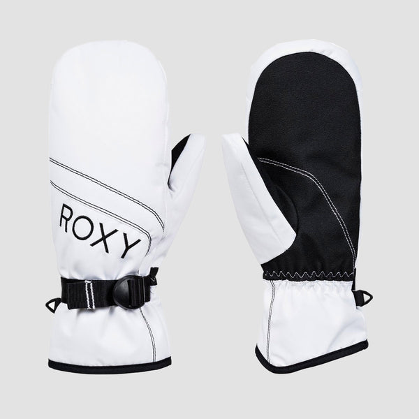 Roxy Jetty Solid Snow Mittens Bright White - Womens