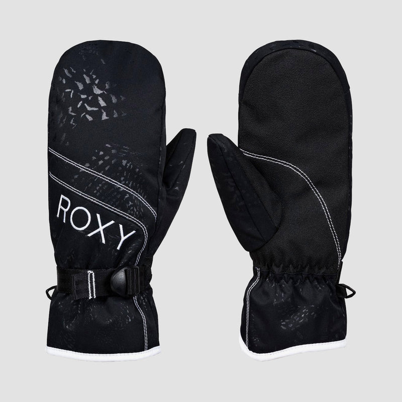 Roxy Jetty Solid Snow Mittens True Black - Womens