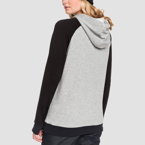 Roxy Liberty Pullover Hood Heather Grey - Womens