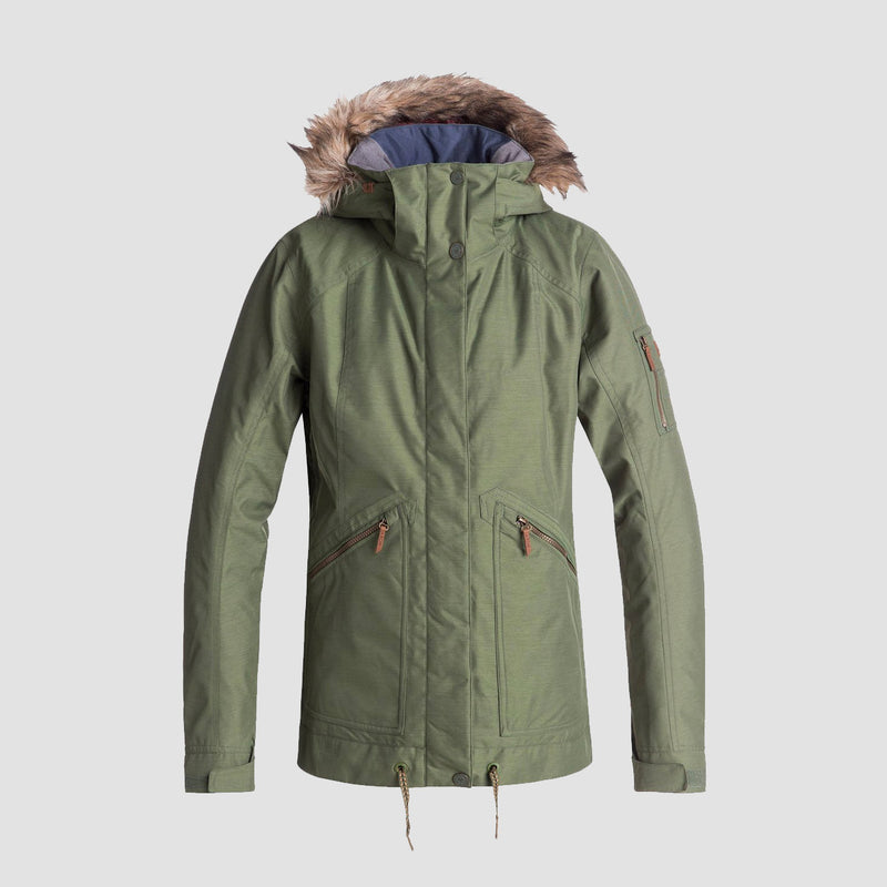 Roxy Meade Snow Jacket Four Leaf Clover - Womens