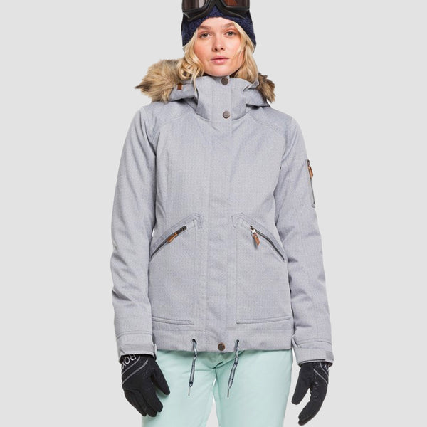 Roxy Meade Snow Jacket Heather Grey - Womens