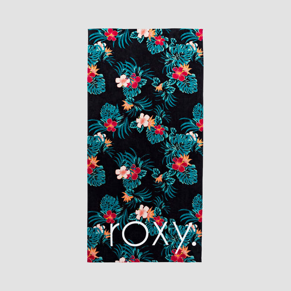 Roxy New Season Girls Beach Towel Anthracite Badami - Kids